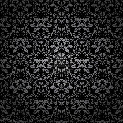 Illustration Of Seamless Gothic Ornamental Wallpaper Floral Pattern Vector Art Clipart And Stock Vectors
