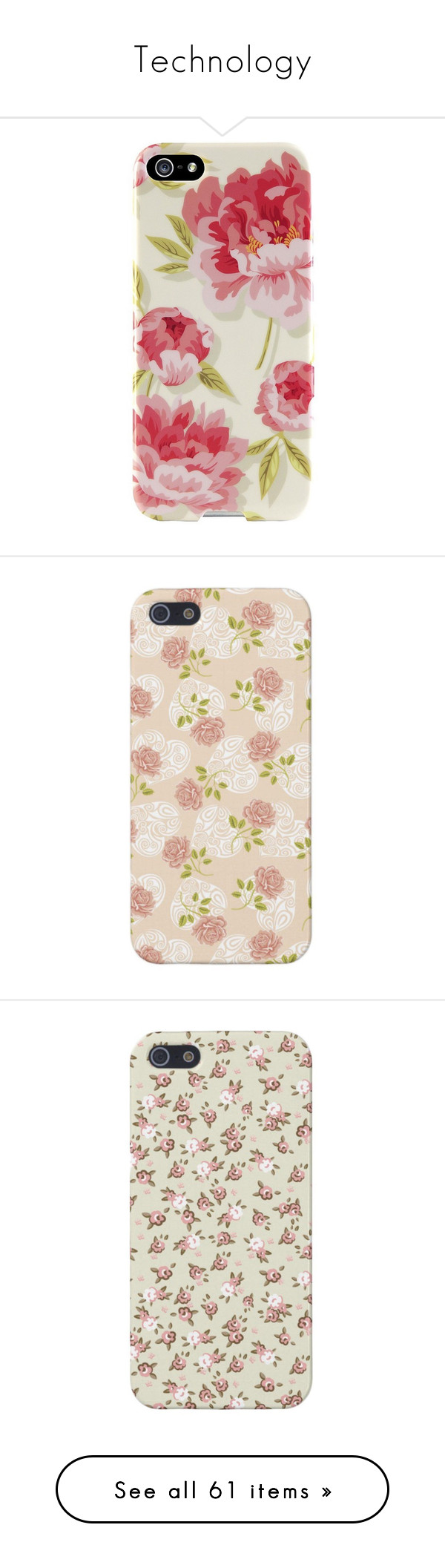 """""""Technology"""" by allison-bellisario ❤ liked on Polyvore featuring accessories, tech accessories, phones, phone cases, iphone, fillers, agent 18, cases, phone and case"""