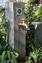 Photo of Koop Greenspring Dragon decoratieve antieke koperen tuin Outdoor kraan – met een S …
