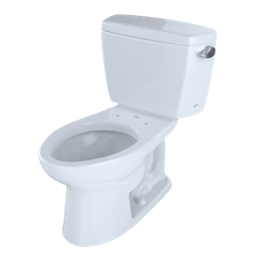 TOTO Model Number - CST744SL#01 The Toto Drake Elongated 1.6 GPF Two-Piece ADA Compliant Toilet (with Right-Hand Trip Lever) in Cotton White has high-profile design and is powerful and durable enough to work within both at home for commercial use. Features: G-Max Flushing System Computer Designed, Fully Glazed Trapway Elongated Seat Chrome Trip Lever Included Other tanks available to accommodate bolt down lid and insulated tank requirements ADA Compliant 12