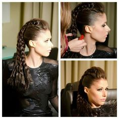 My work- look #4: warrior ponytail www.shannonhair.com