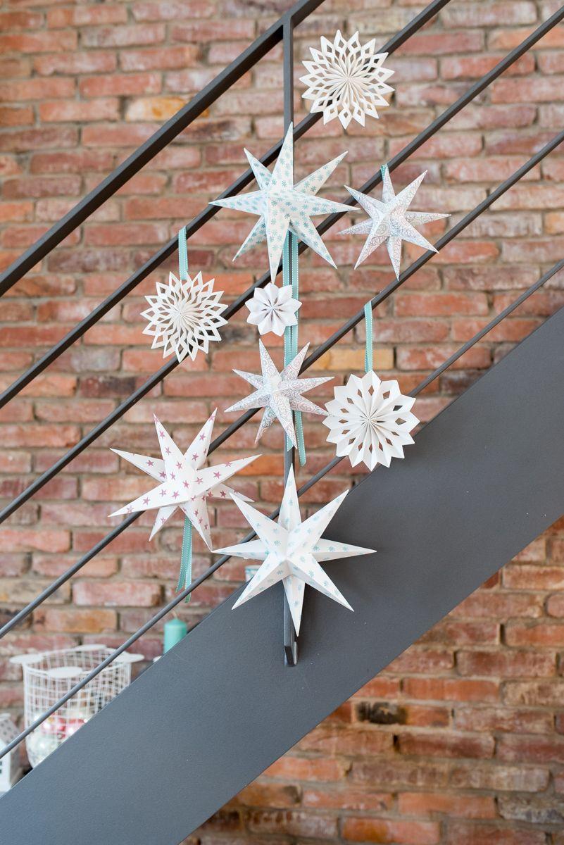 Diy Papiersterne Deko Home Weihnachtliche