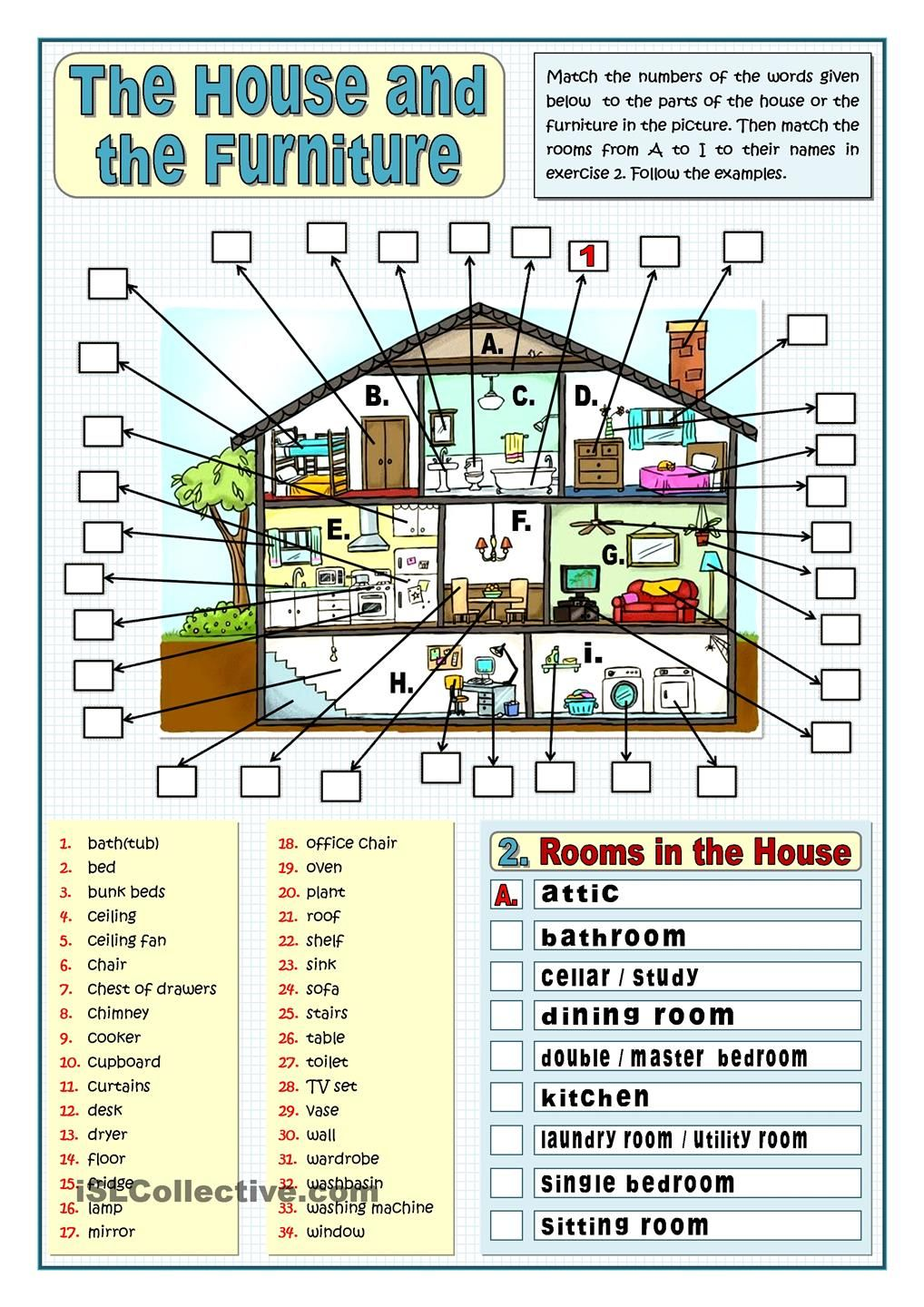 ... House And The Furniture. 50 000+ Free ESL, EFL Worksheets Made By  Teachers For Teachers