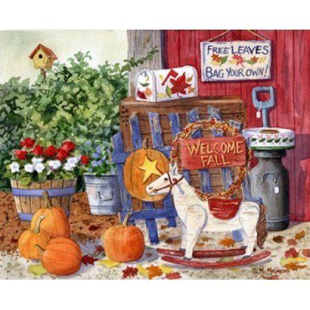 Welcome Fall Canvas Art - Maureen Mccarthy (30 x 25)