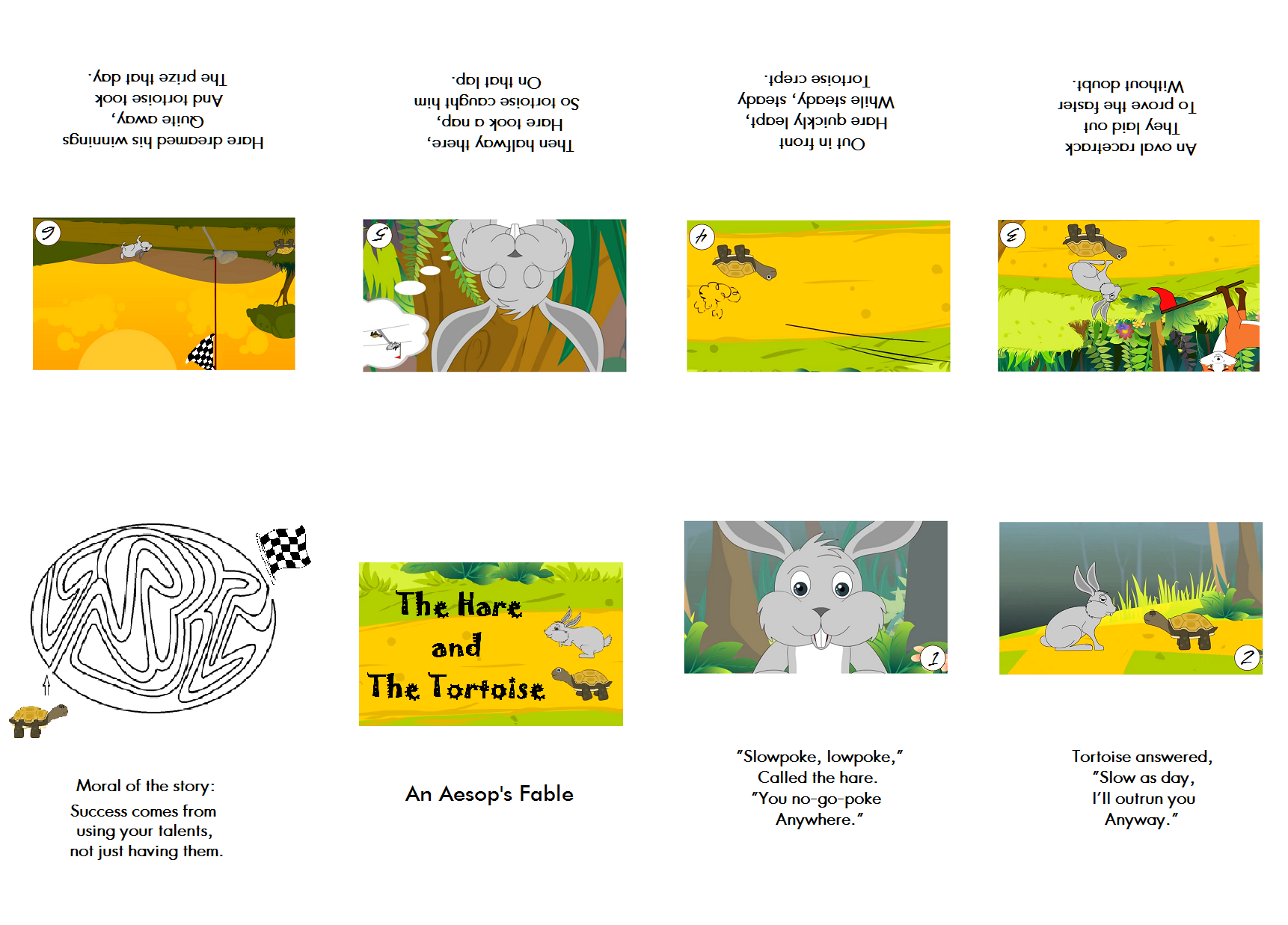 The Hare and The Tortoise minibook - Aesop\'s Fables | Hare and ...