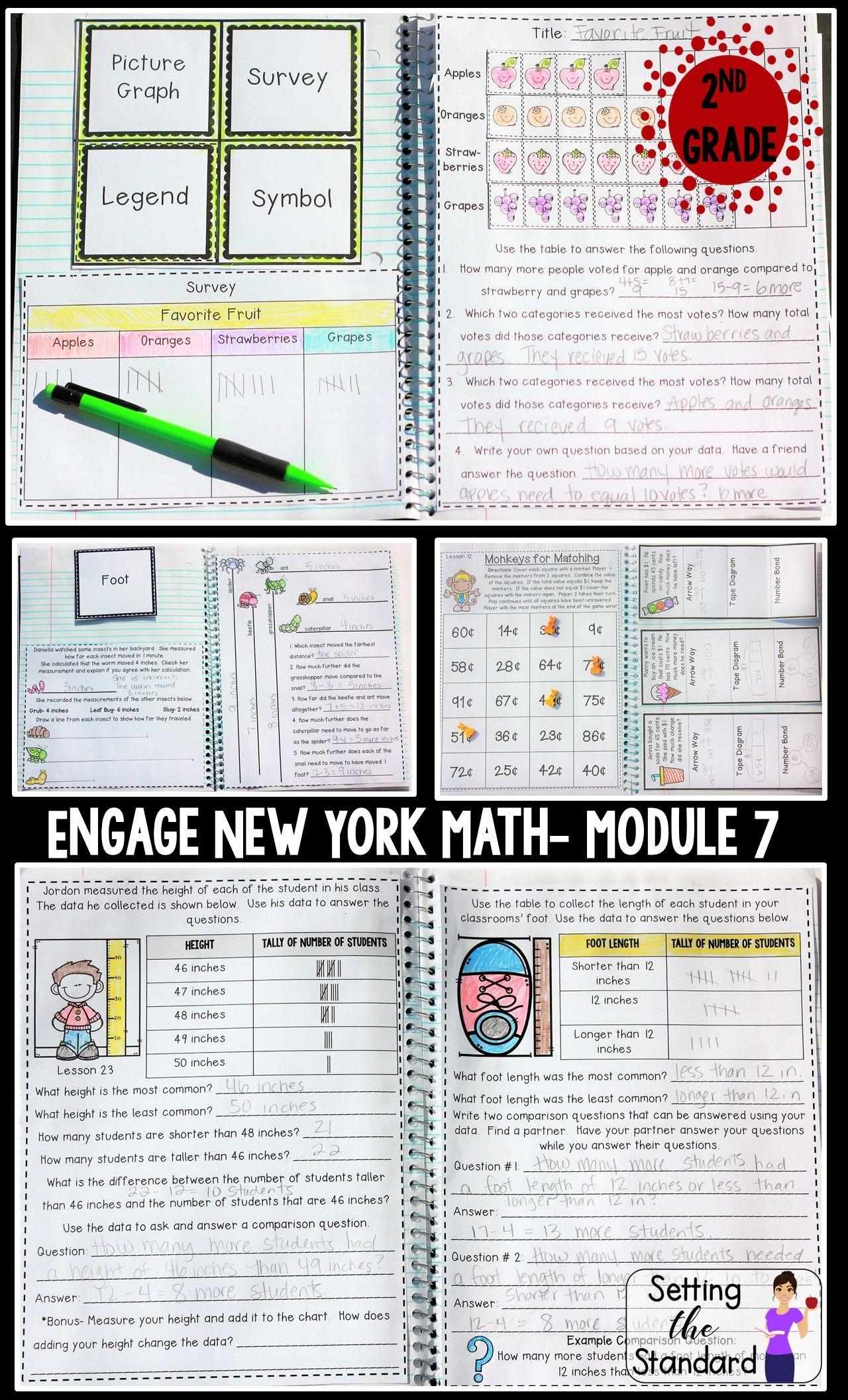 Math Interactive Notebook Grade 2 Module 7