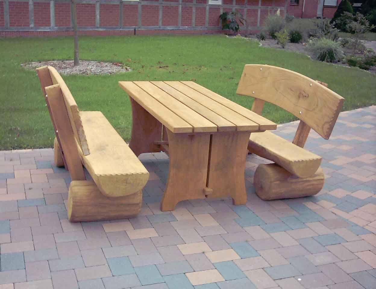Gartenbank Rustikal Bauanleitung Holz Massiv