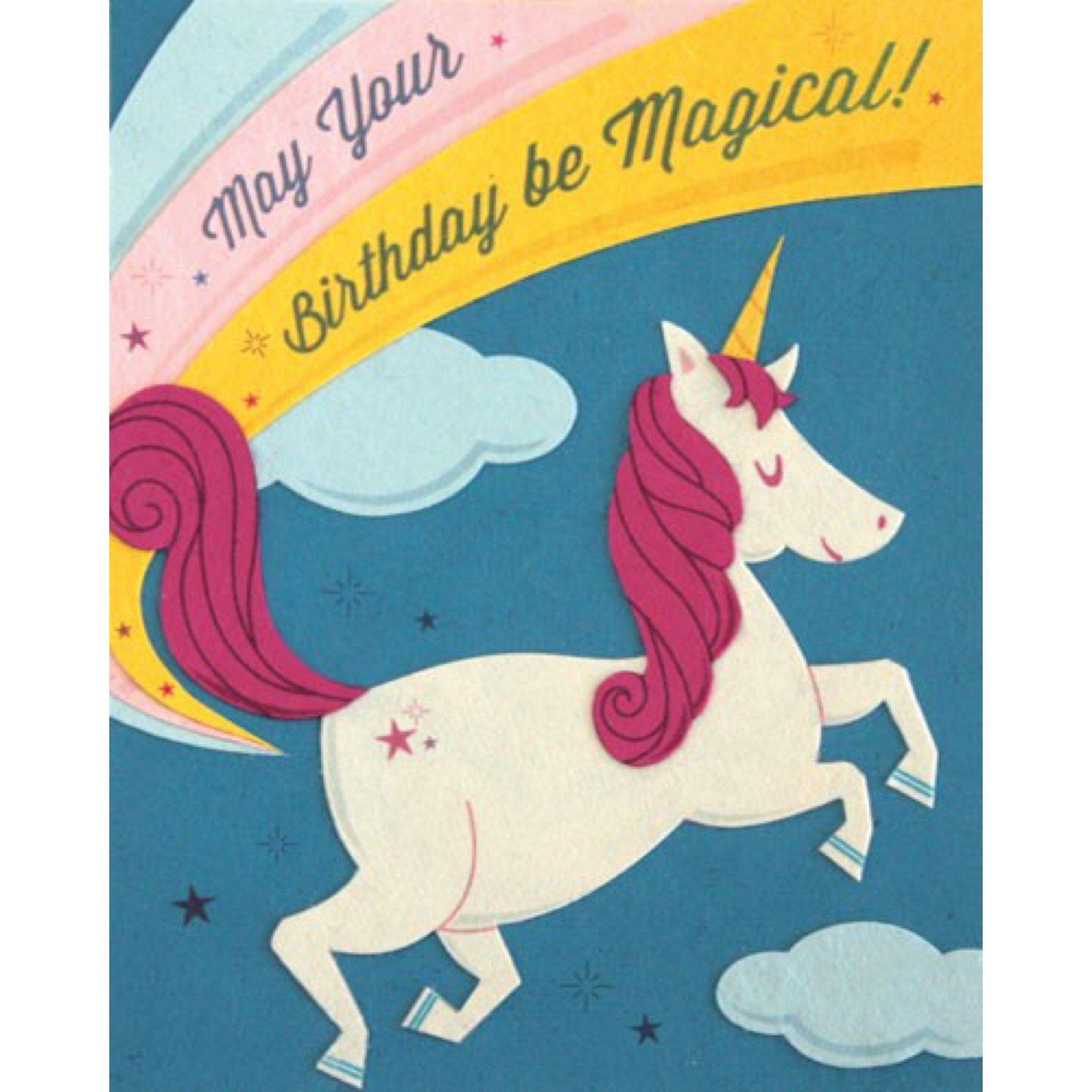 Unicorn Birthday Cards, Happy
