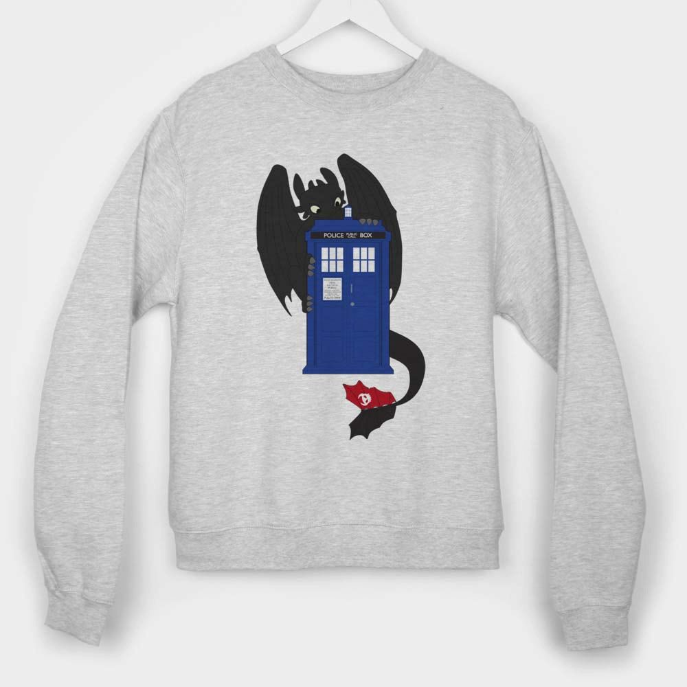 toothless dragon tardis how to train your dragon long sleeves for mens and womens by usa by gentilang2 on Etsy