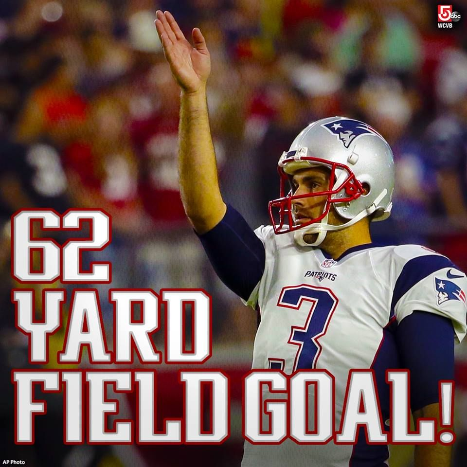 How About Some Love For Patriots Kicker Stephen Gostkowski Who Just Hit A 62 Yard Fg That Would Have Been Good Fr Patriots Football Patriots Fans Patriots