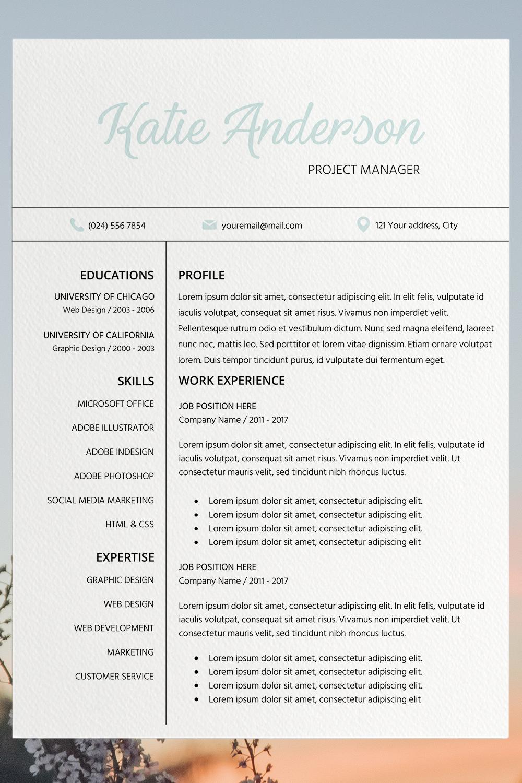 Modern Resume Template Resume Word Template Easy