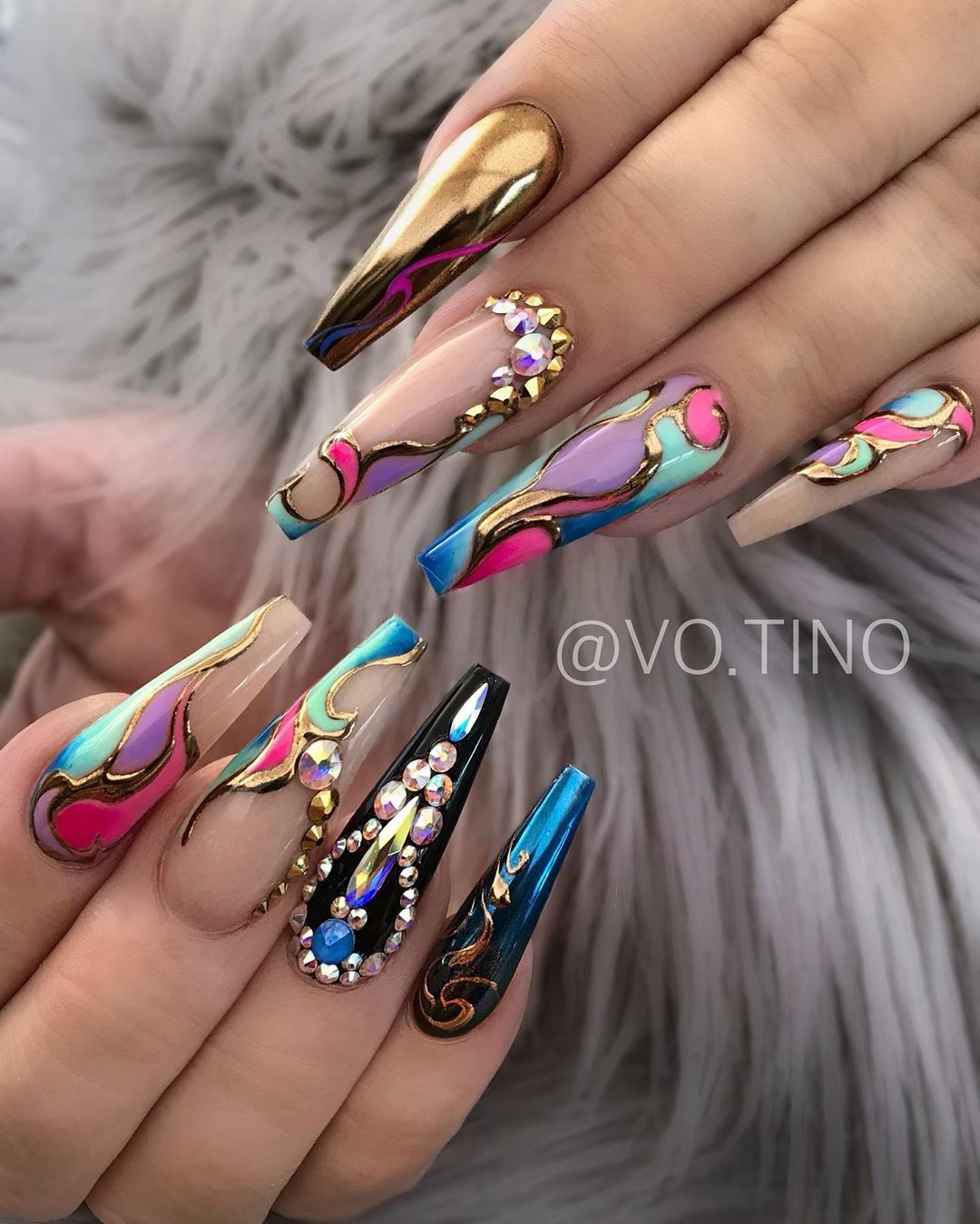 Tino Turn On Post Notification On Instagram Both Set Using Joyamia Aluminix Joyamiaofficial Use Code Tin Bling Nails Beautiful Nail Designs Nail Designs