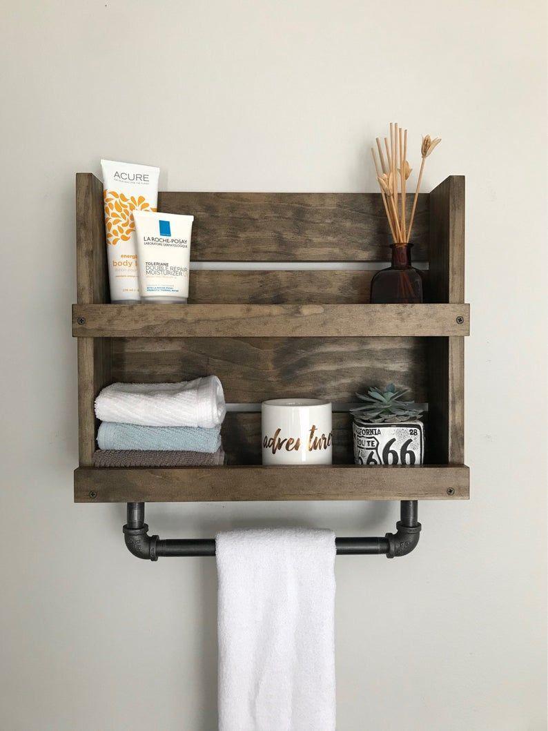 Badezimmer Regal Mit Rohr Handtuchhalter Rustikale Regal Mit