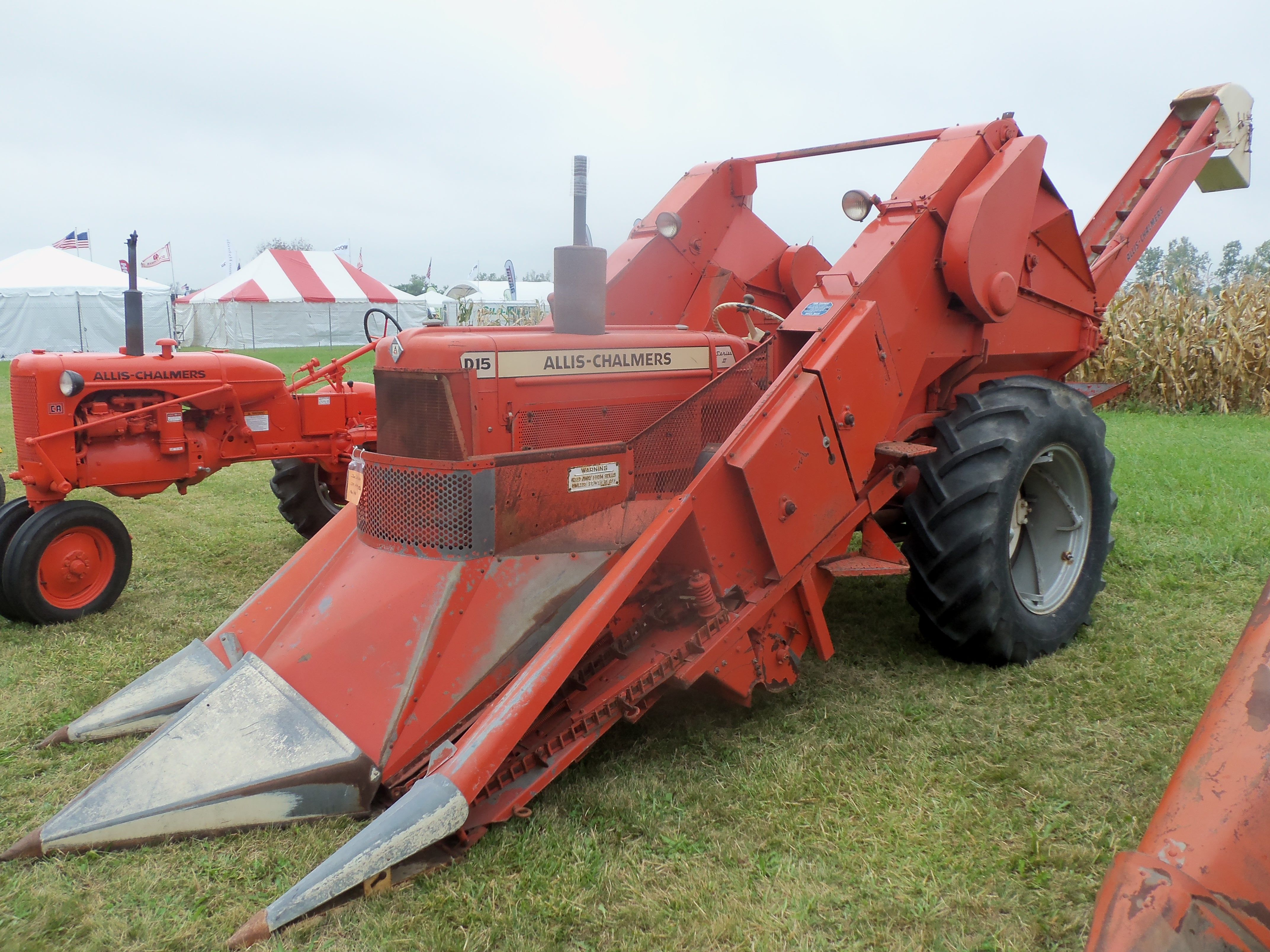 Cartoon Tractor Corn Picker : Allis chalmers d with row corn picker