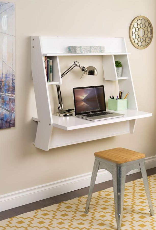 Studio Contemporary Floating Desk 39 5 W X 19 75 D X 37 H With Images Desks For Small Spaces Small Room Desk Floating Desk