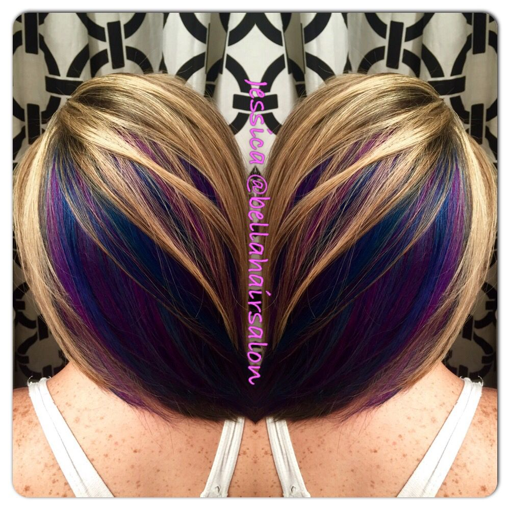 Fun colored hair