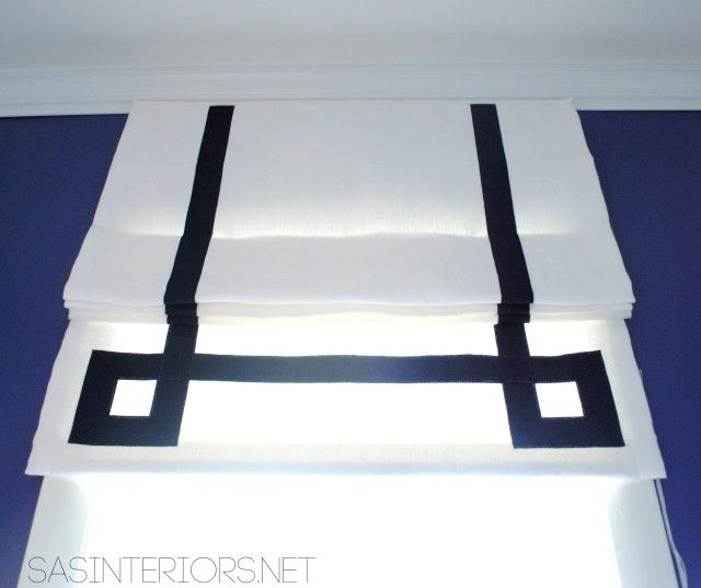 29 Best Roman Blinds By Tonic Living Images On Pinterest: Roman Blind With Greek Key Ribbon Detail By Tonic