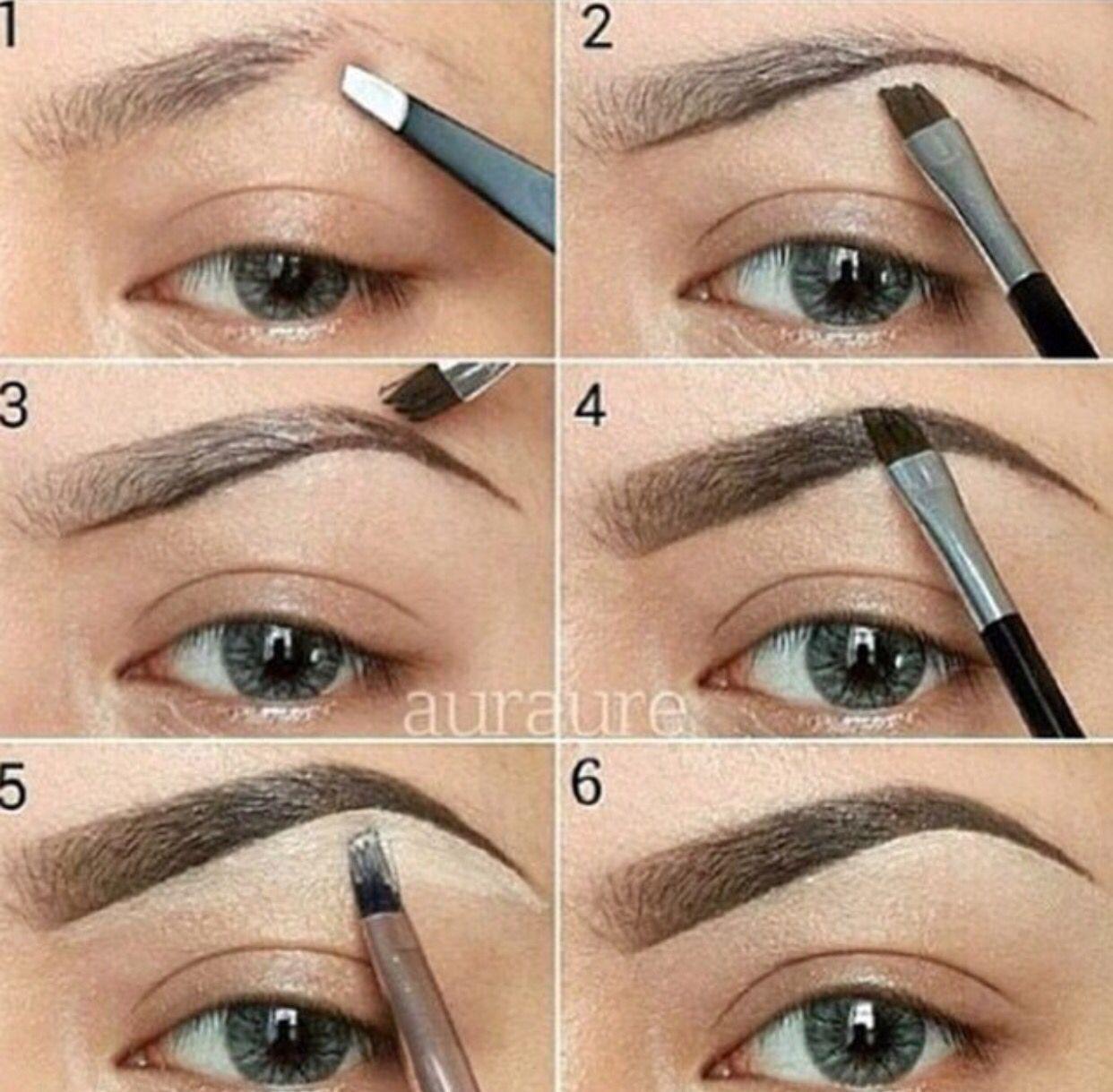 Simple eye brow explanation.  Eyebrow makeup, Eye makeup, Eyebrow