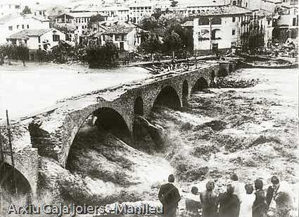 Aiguat a Manlleu. 1940