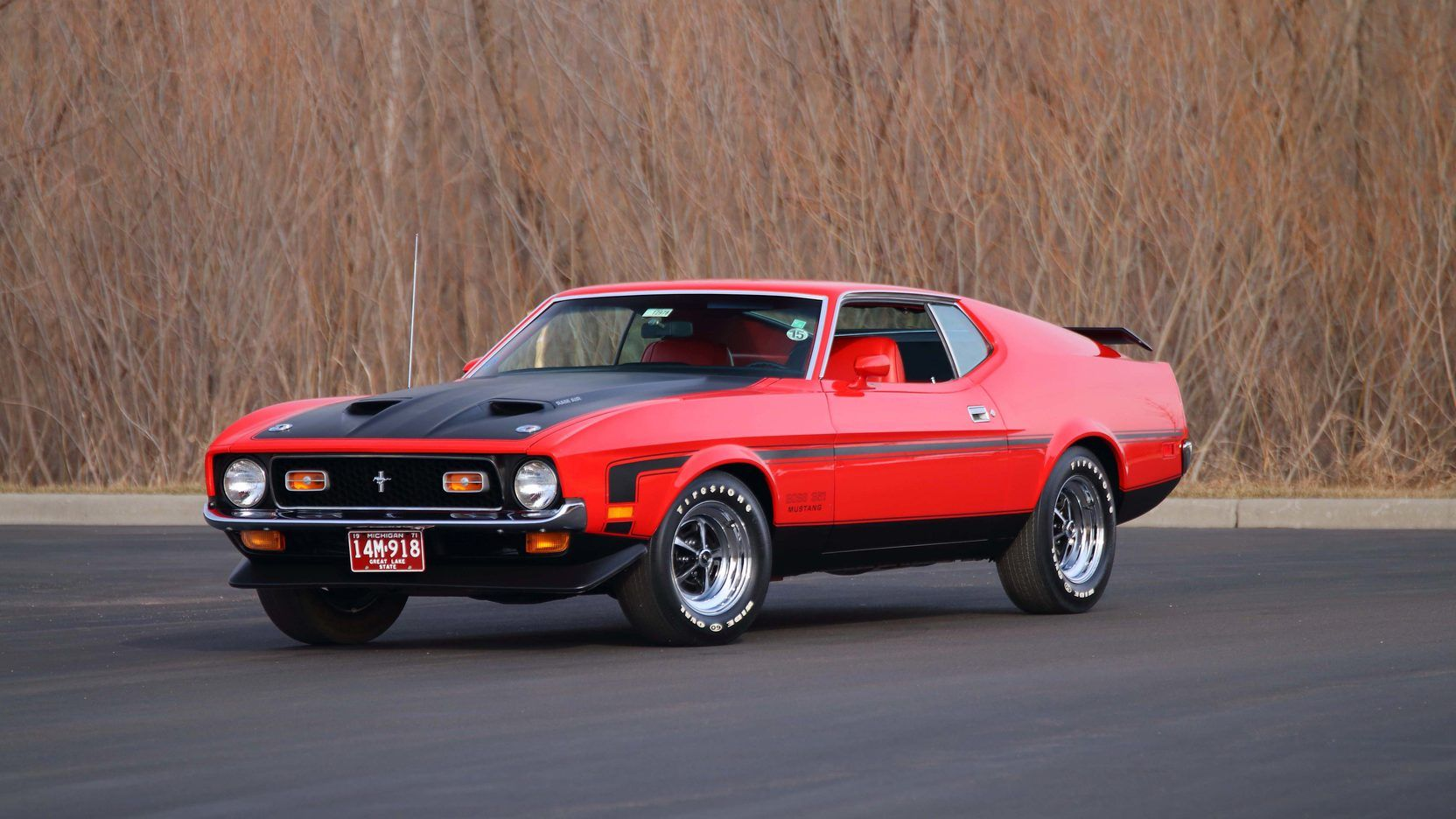 1971 Ford Mustang Boss 351 Fastback 1 Print Image Ford Mustang Boss 1971 Ford Mustang Ford Mustang
