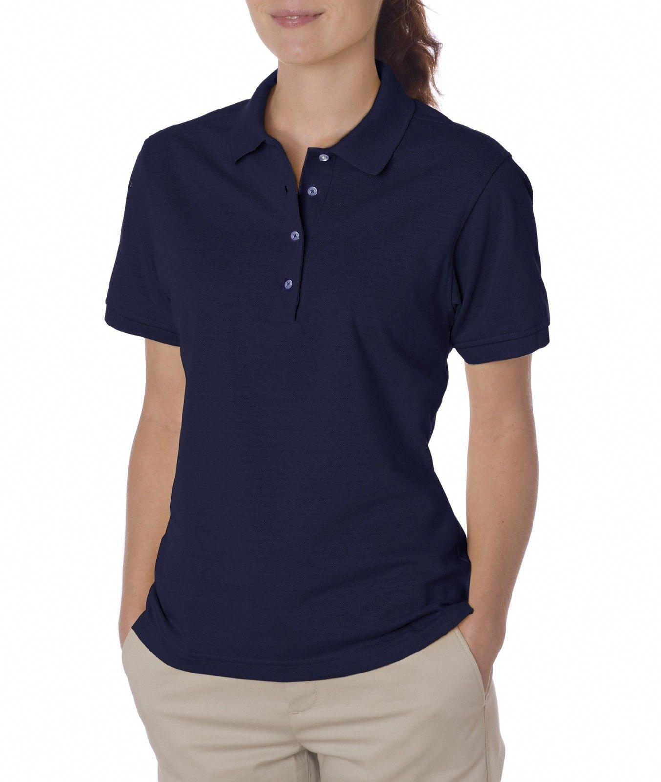 Jerzees Women'S Spotshield Short Sleeve Solid Polo Shirt