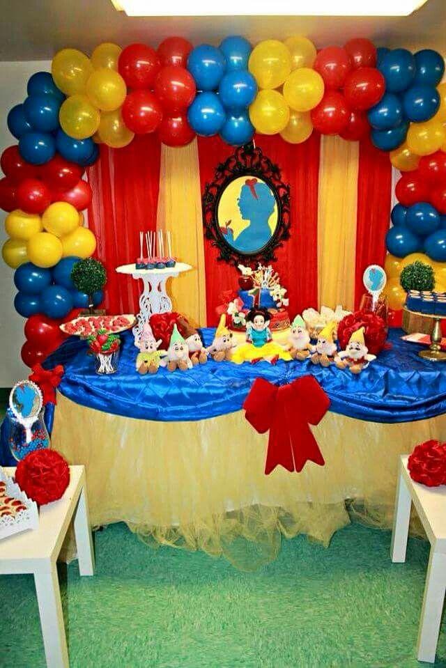 Centros De Mesa Snow White Party Snow White Birthday Party