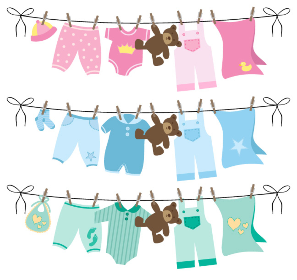 Baby Clothes On Line  Baby clothes quilt, Baby shower clipart