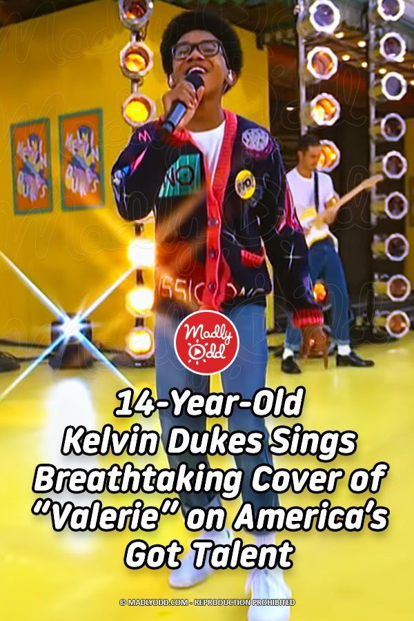 "It's not easy to sing a cover of a music legend like Amy Winehouse. When 14-year-old Kelvin Dukes appears on America's Got Talent for the quarter-finals, he pulls out all the stops for his rendition of ""Valerie."" #Teenagers #AmericasGotTalent #AmyWinehouse"