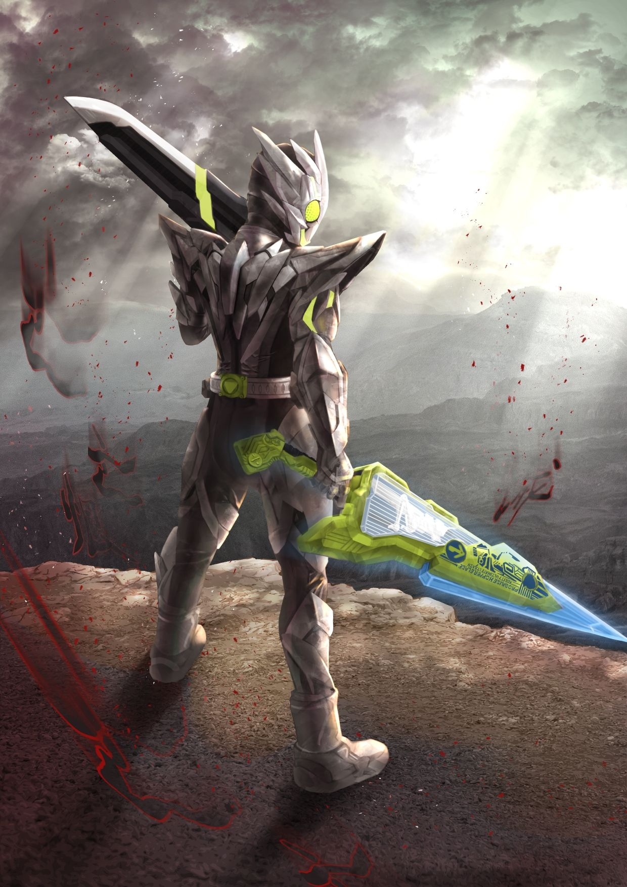 kamen rider zero one metal cluster hopper 仮面ライダー イラスト fgo キャラ