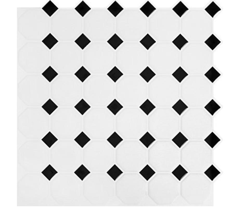 Tile option 2 from Home Depot Black and white backsplash