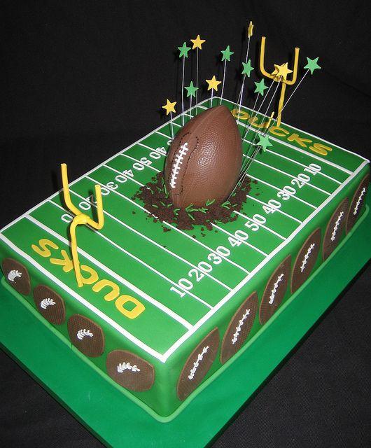 Ducks Football Football Birthday Cake Football Themed Cakes