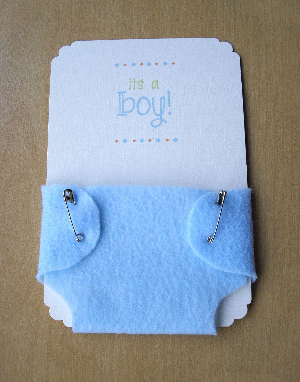 Invitaciones De Baby Shower Con Adorno De Pañales