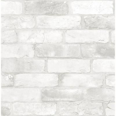Brewster White Reclaimed Bricks Rustic Wallpaper Sample 2701 22321sam In 2019 Brick Wallpaper White Brick Wallpaper Rustic Wallpaper