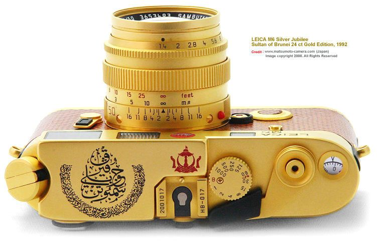 LEICA M6 Silver Jubilee :: Sultan of Brunei 24ct Gold Edition, 1992