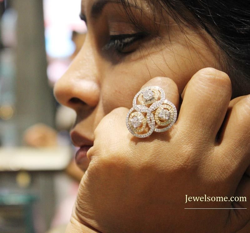 These designer diamond jewellery by Tanishq are made in ...