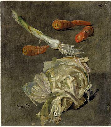 Christian Friedrich Gille, Ballenstedt 1805 - 1899 Wahnsdorf / Dresden Studies of Vegetables, 1839