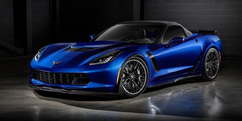 2019 Corvette Z06 Convertible Exterior Photo Front Laguna Blue