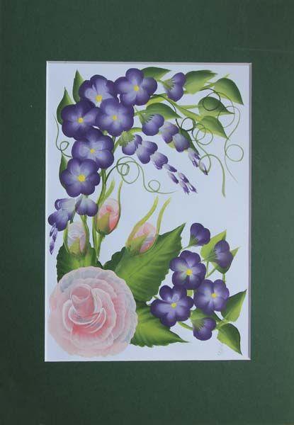 Donna Dewberry Tall Floral Garden Border Cream//White 240b63950