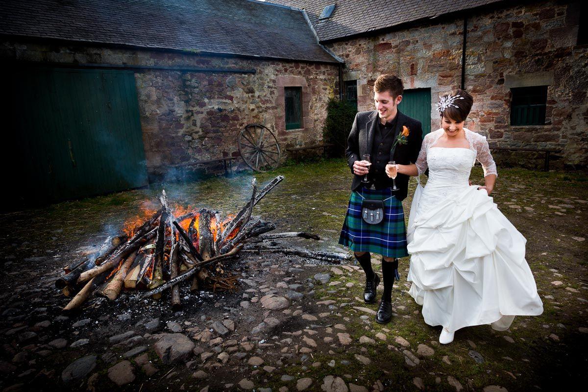 Beautiful Scottish wedding at Mavis Hall Park, Edinburgh, Scotland.