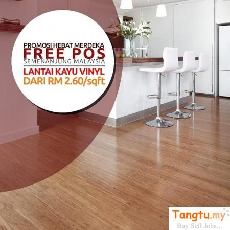Hot Merdeka Promotion Vinyl Floor Wood Price Cheap Distributor Klang Tangtu Malaysia Singapore Free Classified Ads Lantai Kayu Into The Woods Kayu