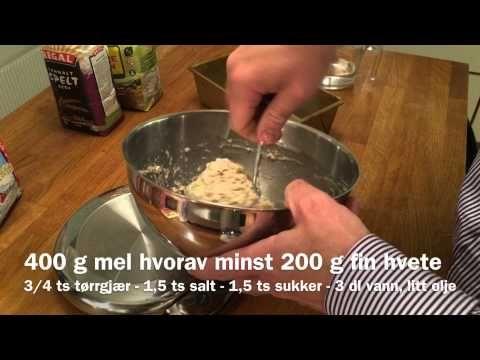 Hvordan bake brød på 3,5 minutter
