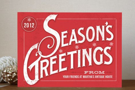 Classic Greetings Business Holiday Cards by GeekInk Design at