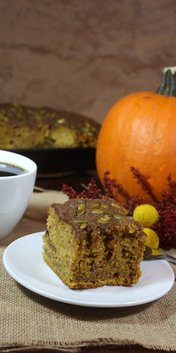 Pumpkin Coffee Cake - Super moist and full of Fall spices! by Don't Sweat The Recipe