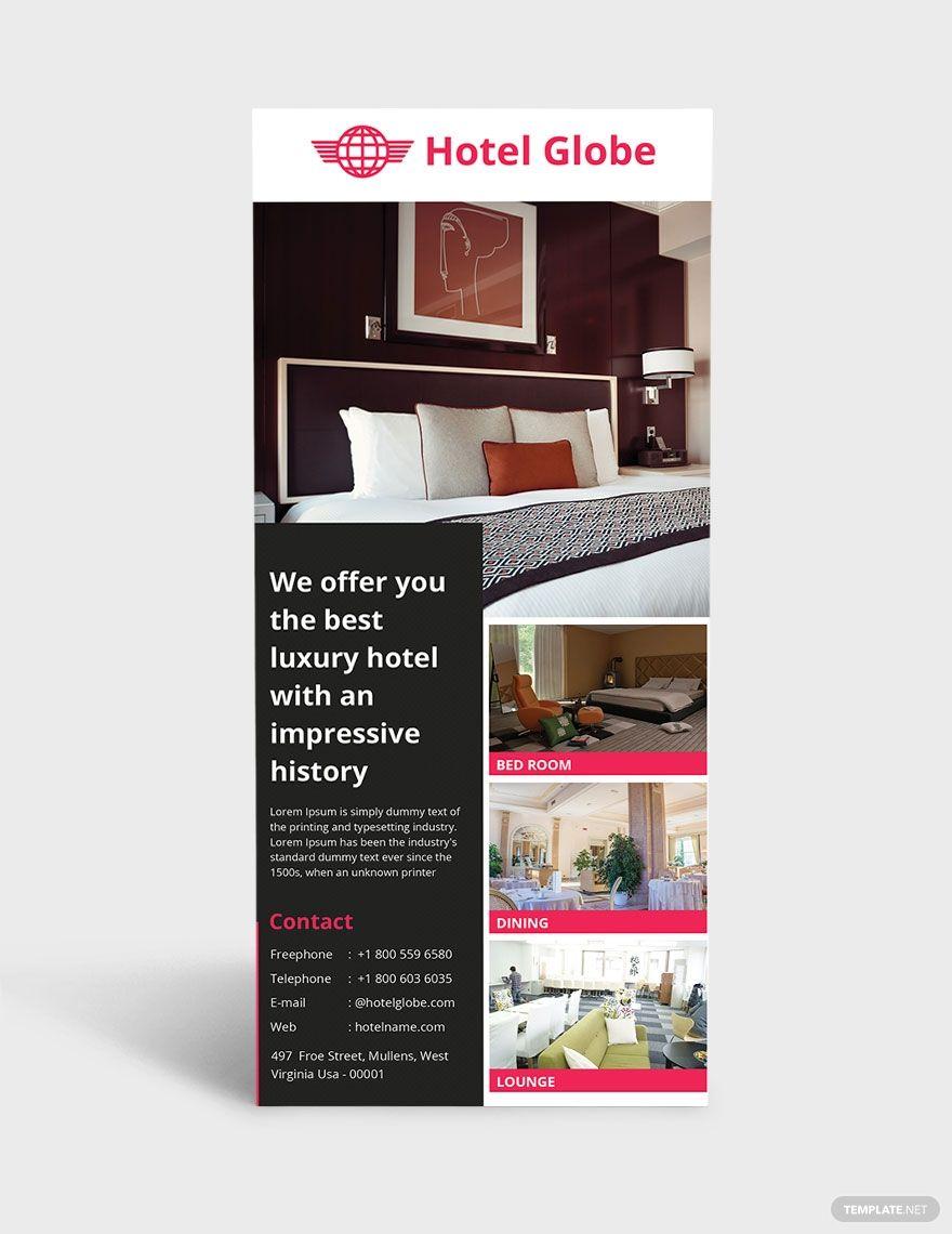 Free Modern Hotel Rack Card Template In 2020 Rack Card Templates Rack Card Rack Cards Design