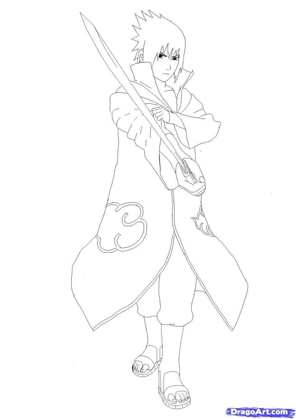 How To Draw Sasuke Akatsuki By Xjoaorpxx Desenho Da Pantera