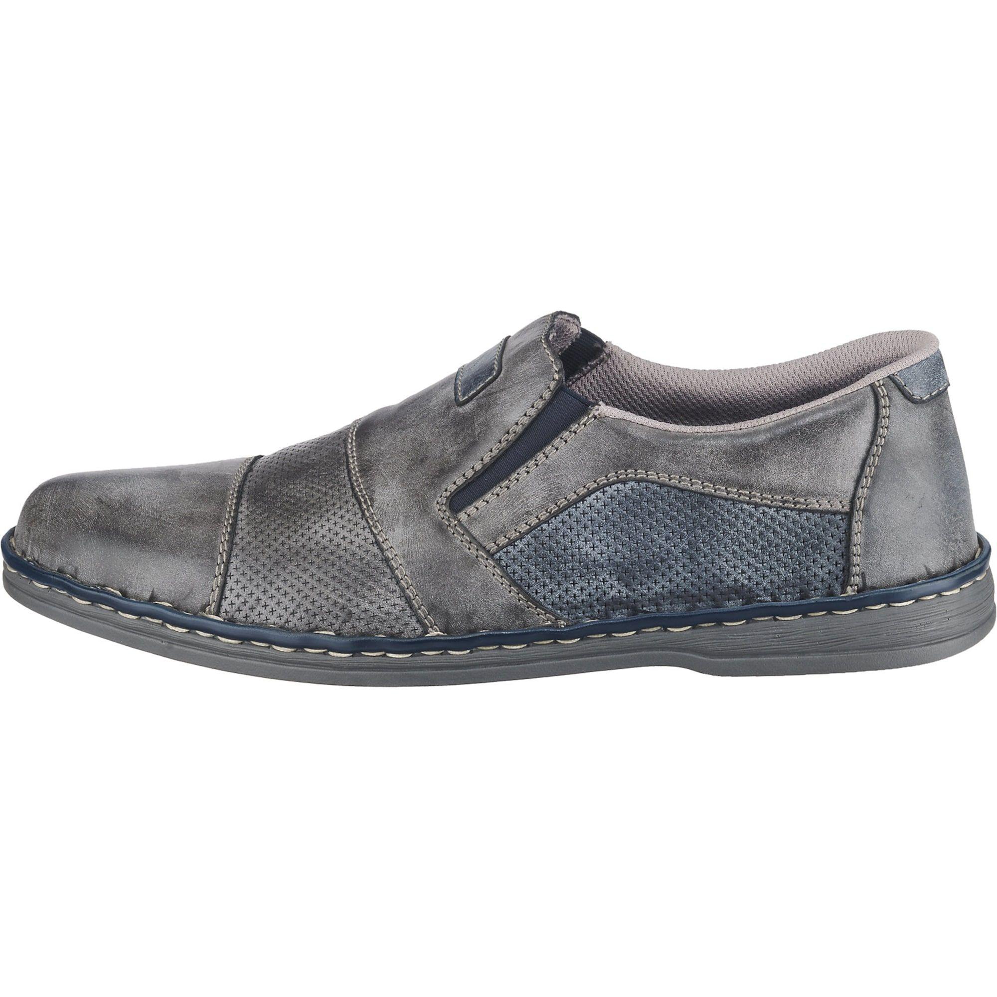 RIEKER Slipper Herren, Taubenblau Grau, Größe 45 | Slipper