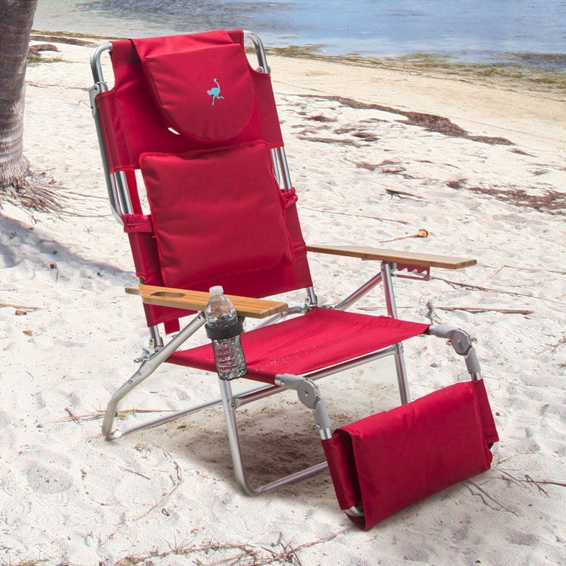 Outdoor Deluxe Padded Ostrich 3 N 1 Beach Chair With Free