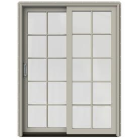 Jeld Wen W 2500 59 25 In 10 Lite Glass Desert Sand Wood Sliding Patio Sliding Patio Doors Patio Doors Vinyl Patio Doors
