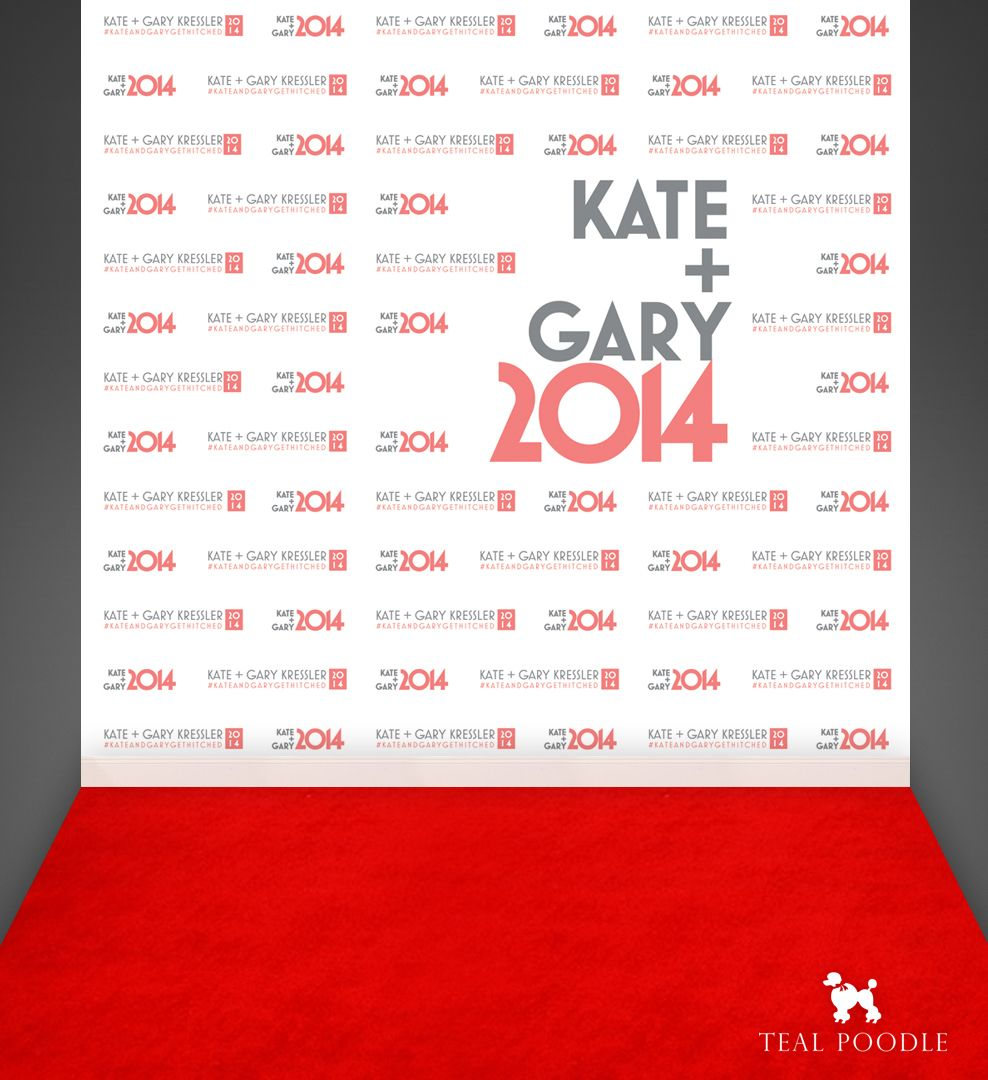 Bride & Groom Wedding Red Carpet Backdrop | Backdrops