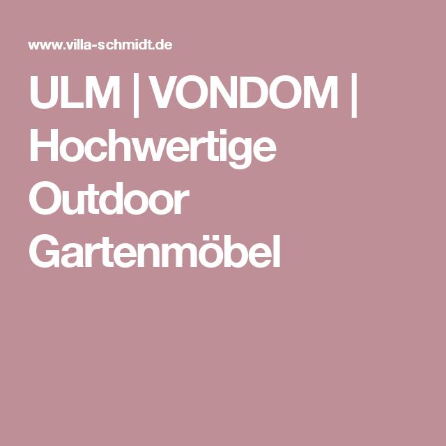 ULM | VONDOM | Hochwertige Outdoor Gartenmöbel | VONDOM